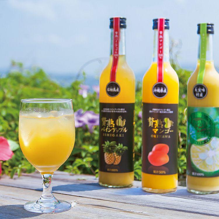 マンゴー果汁 パインアップジュース シークヮーサージュース